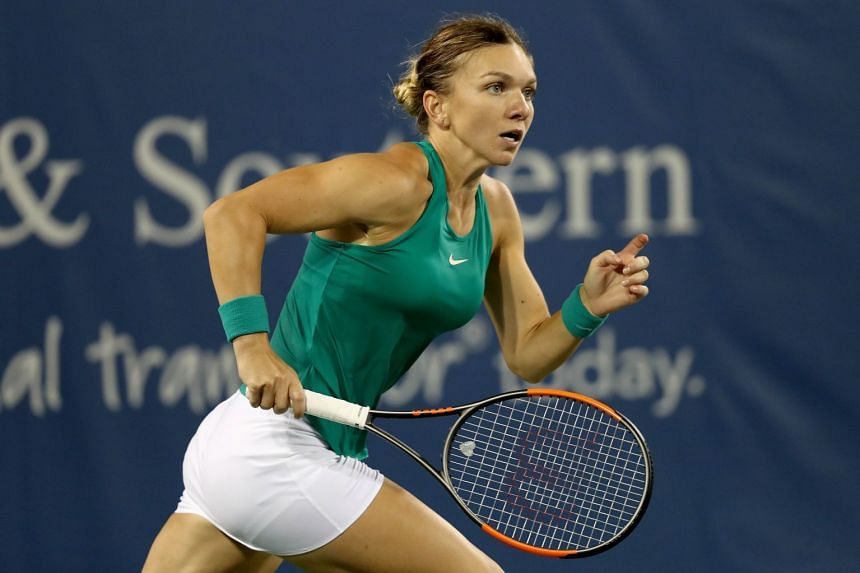 Halep in action against Ajla Tomjanovic of Australia.