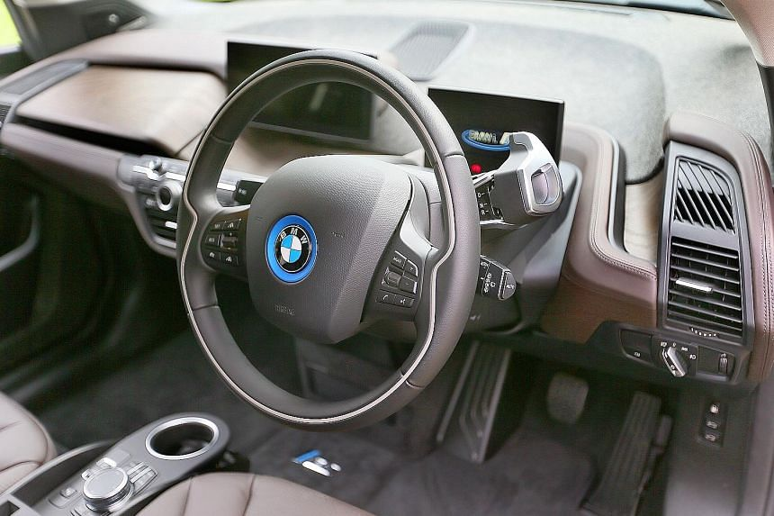 BMW's new electric car is sporty in terms of performance and looks.