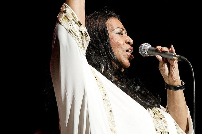 Aretha Franklin performing in New York on July 27, 2011. The singer died of pancreatic cancer on Thursday.