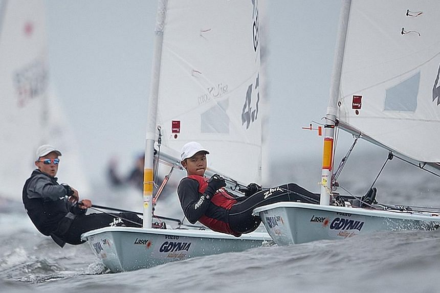 National sailor Daniel Hung finished in the top five in all five days of sailing to win the gold at the Laser 4.7 Youth World Championships in Gdynia, Poland, last month.