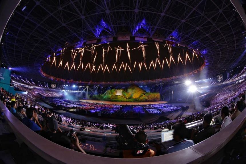 The opening ceremony of the 18th Asian Games at the Gelora Bung Karno Stadium in Jakarta, Indonesia, on Aug 18, 2018.