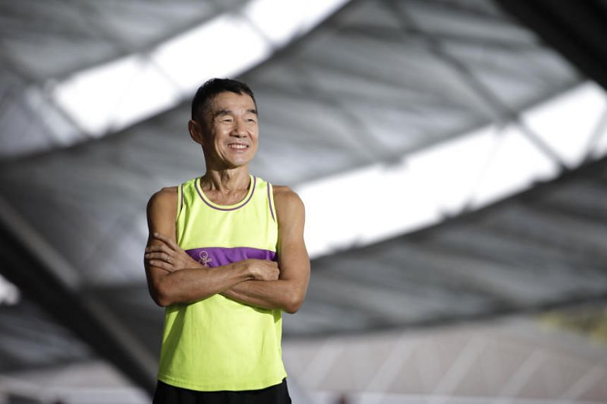 64-year-old Koh Kwee Boon is one of the 60 blind runners who train at Bedok Reservoir with Runninghour, an inclusive running club.
