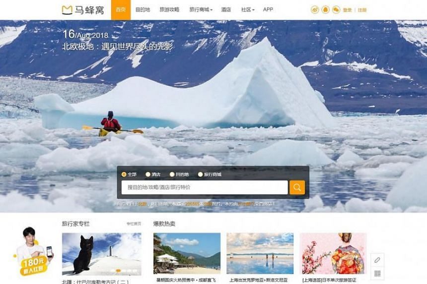 "Mafengwo, or ""wasps' nest"" in Chinese, is an online community for Chinese tourists where they share travel tips and shop for bespoke travel products."