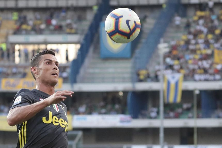 Ronaldo in action during the Italian Serie A match against Chievo.