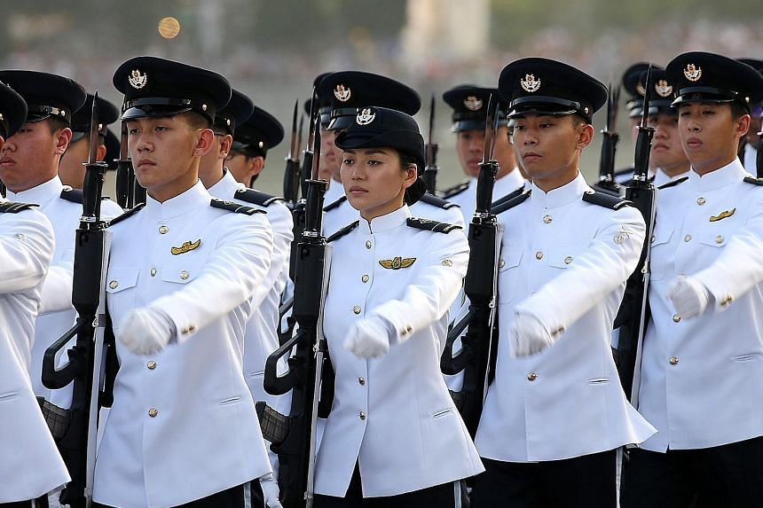 ME1 Gorgina Choo came under the spotlight after President Halimah Yacob chatted with her during the guard of honour inspection at the National Day Parade