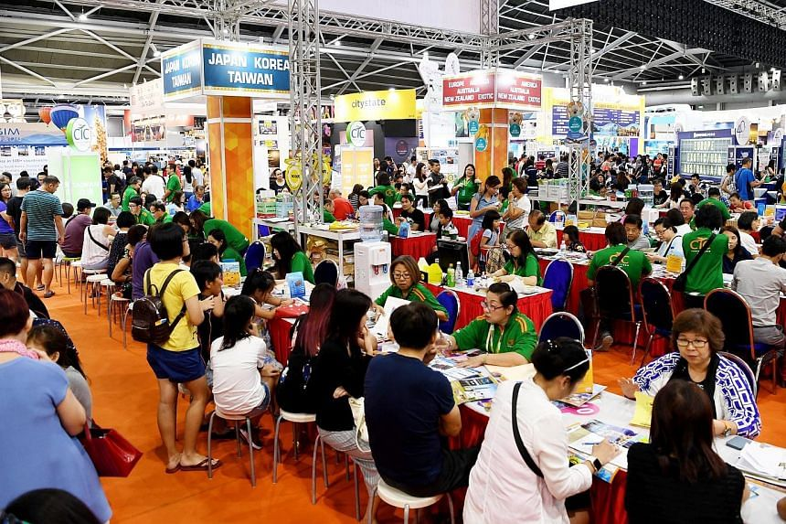 The three-day National Association of Travel Agents Singapore (Natas) travel fair attracted more than 20,000 visitors on its opening day.