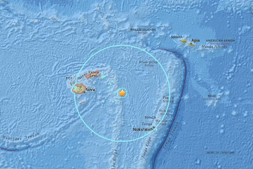 The quake was 560km below the Earth which would have dampened the shaking at the surface.