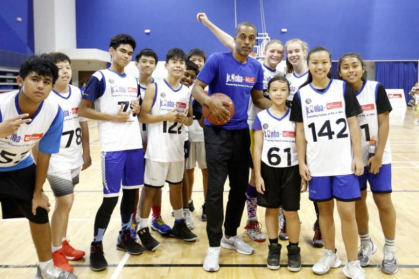 Former NBA player Rod Strickland was in Singapore to visit the training camp and interact with fans at the Heartbeat@Bedok.