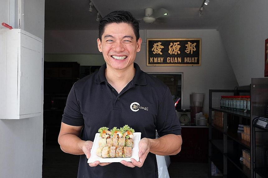 Kway Guan Huat Joo Chiat Popiah owner Michael Ker took a pay cut in taking over the family business.