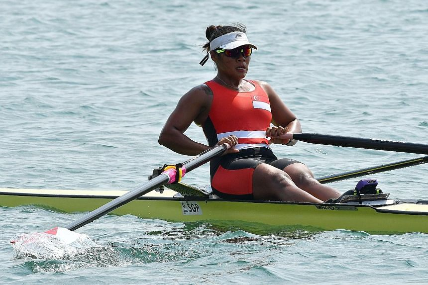 Rower Joan Poh finished fifth in her 2,000m single scull heats but will race in tomorrow's repechage for a shot at making the final.