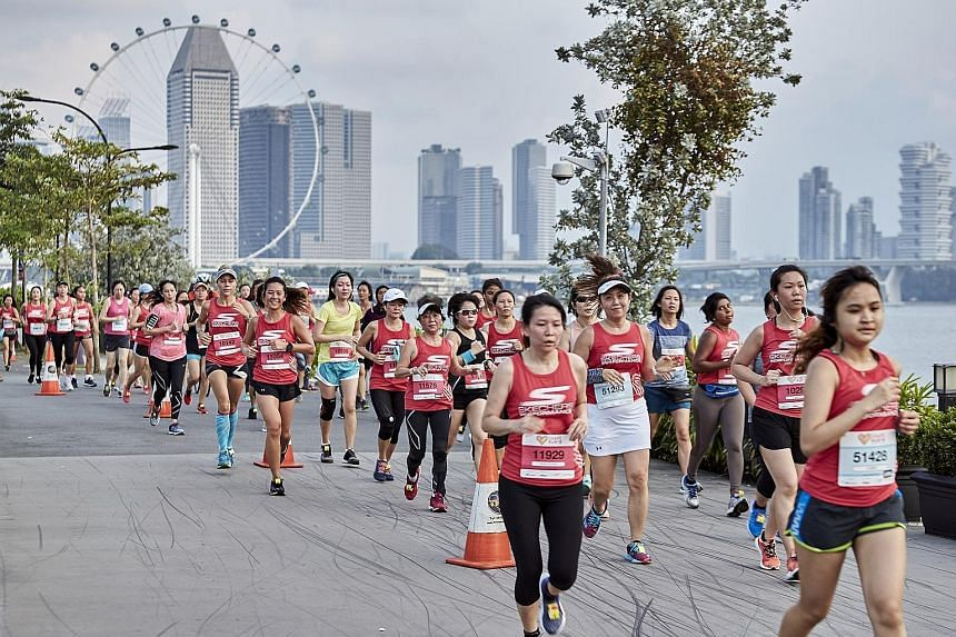 More than 7,000 runners took part in the Shape Run - Singapore's original all-women race - yesterday at Gardens By The Bay East. There were four categories - the 5km and 10km Women's Open, the 3x5km Squad Relay and a fun 1.8km Family Run. Participant