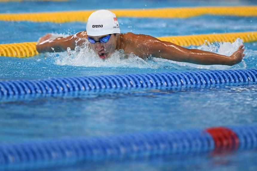 Games debutant Ong Jung Yi finished 12th out of 19 competitors in the 200m butterfly in 1min 59.76sec.