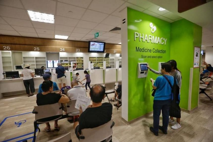 The pharmacy at Ang Mo Kio Polyclinic.
