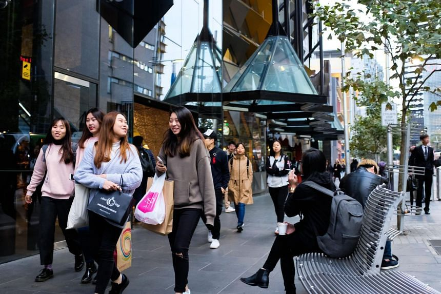 File photo showing university students in Melbourne, Australia.