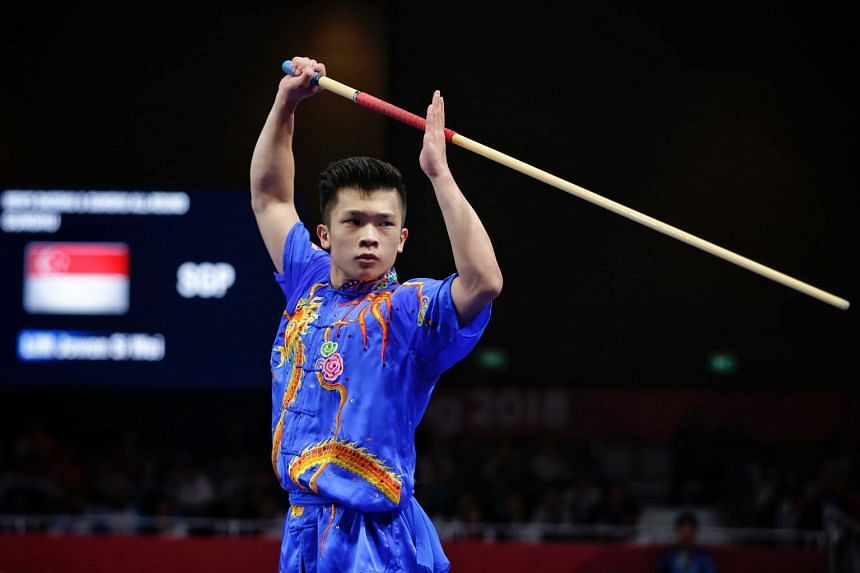 Jowen Lim was disappointed that his sprained ankle hampered his performance during the Asian Games wushu competition.