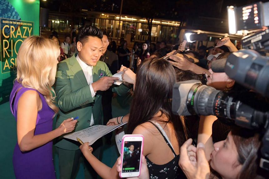 Crazy Rich Asians director Jon Chu at the Crazy Rich Asians Singapore premiere at Capitol Theatre on Aug 21, 2018.