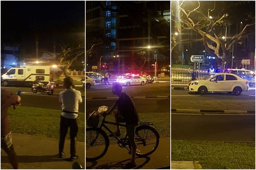 Officers had been conducting a road block in Aljunied Road towards Upper Aljunied Road when the two were arrested.