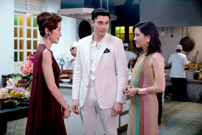 Crazy Rich Asians stars (from left) Michelle Yeoh, Henry Golding and Constance Wu.