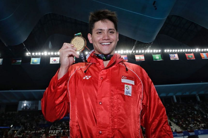 Joseph Schooling won the Asian Games men's 100m butterfly title in 51.04 at the Gelora Bung Karno Aquatic Centre in Jakarta on Aug 22, 2018.