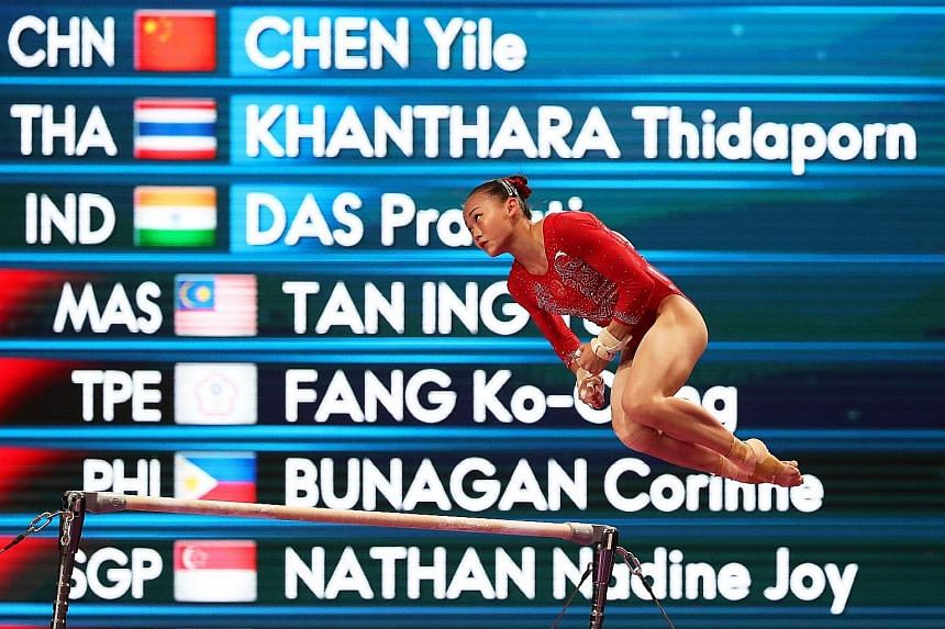 China's Chen Yile, who won the gold medal in the women's individual all-around competition yesterday, feels there is still room for improvement.