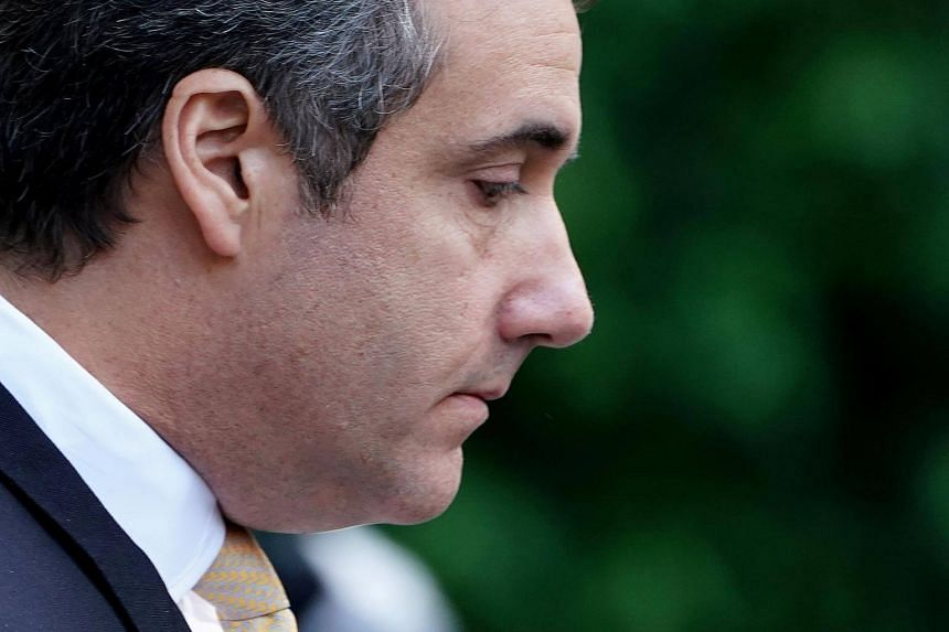 US President Donald Trump's former lawyer Michael Cohen walks out of court in New York, on Aug 21, 2018.