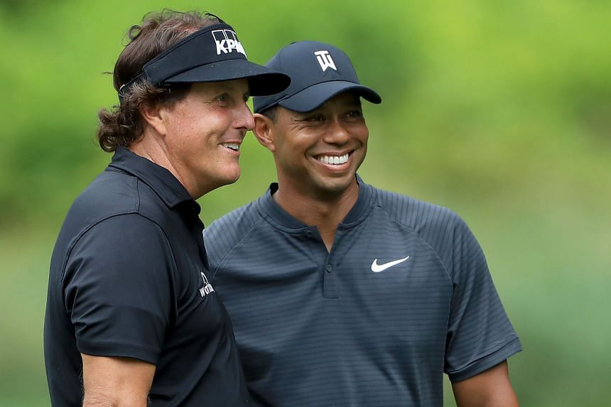 Phil Mickelson and Tiger Woods will slug it out in Las Vegas in November for a winner-takes-all US$9 million (S$12.3 million) prize.
