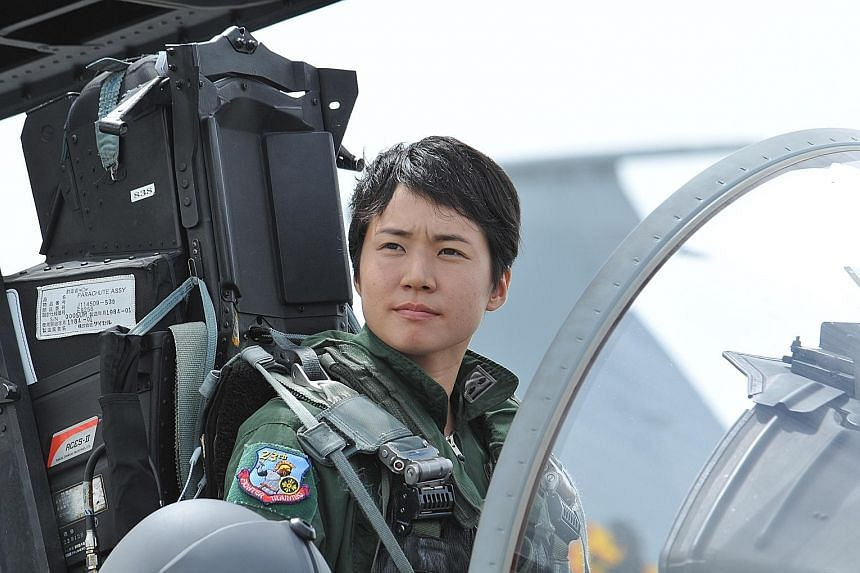 First Lieutenant Misa Matsushima, who was inspired by the 1986 Hollywood blockbuster Top Gun, finished her training to fly F-15s last Wednesday.