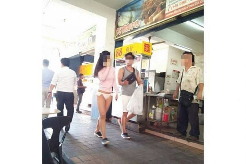 The photo of the woman, believed to be a foreigner, near the Asia City shopping complex in Kota Kinabalu has been widely circulated on WhatsApp.