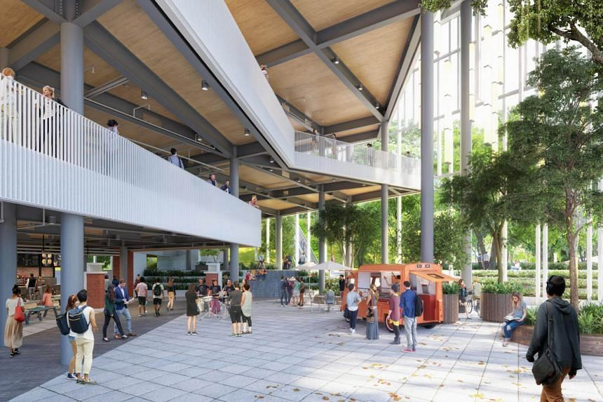 The North Plaza is a distinctive urban space within the Tahir Foundation Connexion which celebrates SMU's unique character as a city campus.