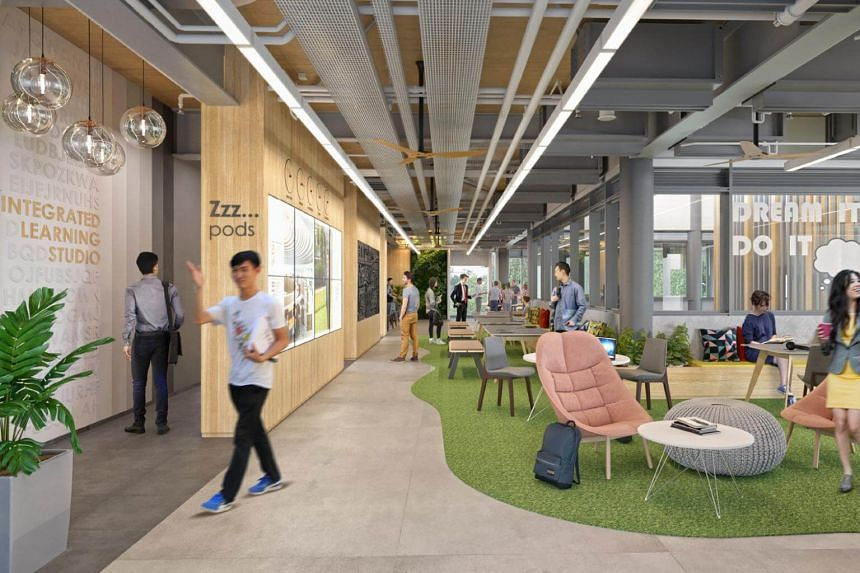 The Integrated Learning Studio is a unique space which will enable 24/7 learning, where students can work in teams as part of their SMU-X projects.