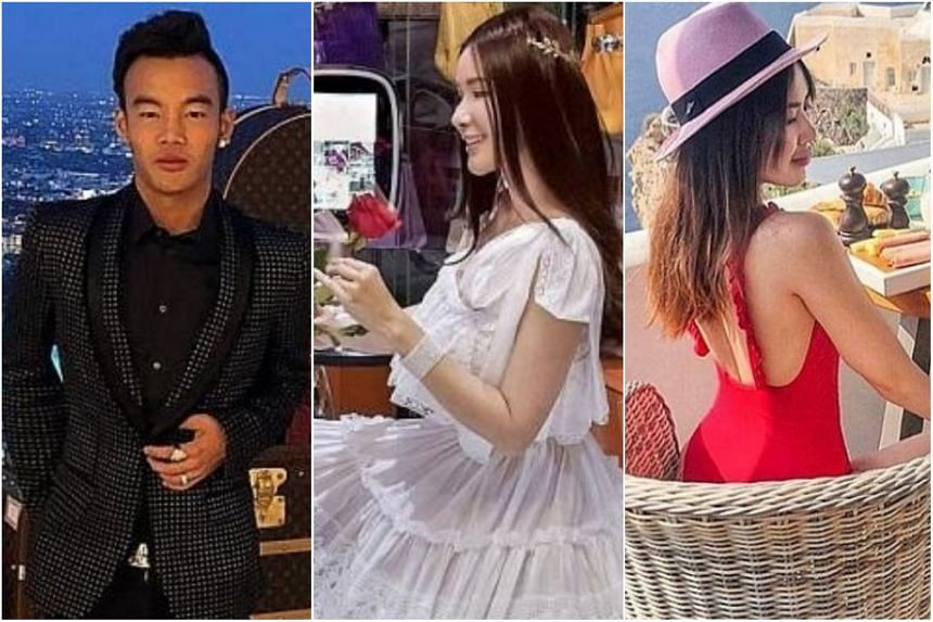 (From left) Entrepreneur Kane Lim and socialites Jamie Chua and Chloe Ng post pictures of their lifestyle on social media.