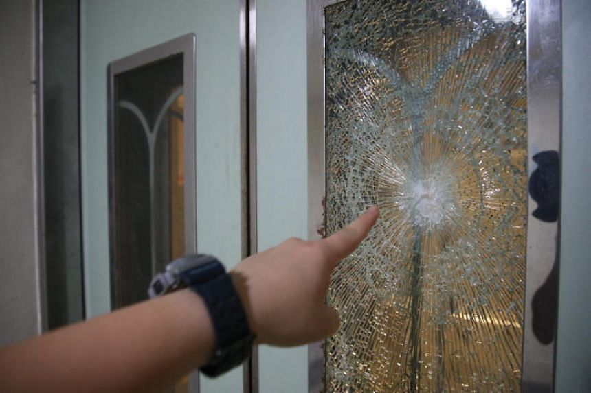 54-year-old man arrested for smashing glass panels of at