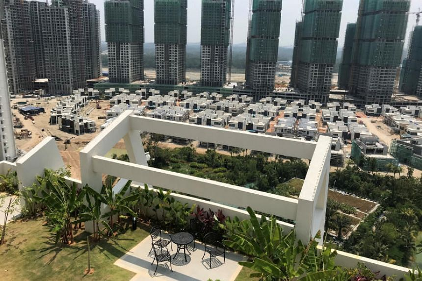 Residential buildings being built at Forest City in Johor, Malaysia. Prime Minister Mahathir Mohamad has announced that foreigners will not be allowed to buy units in the development.