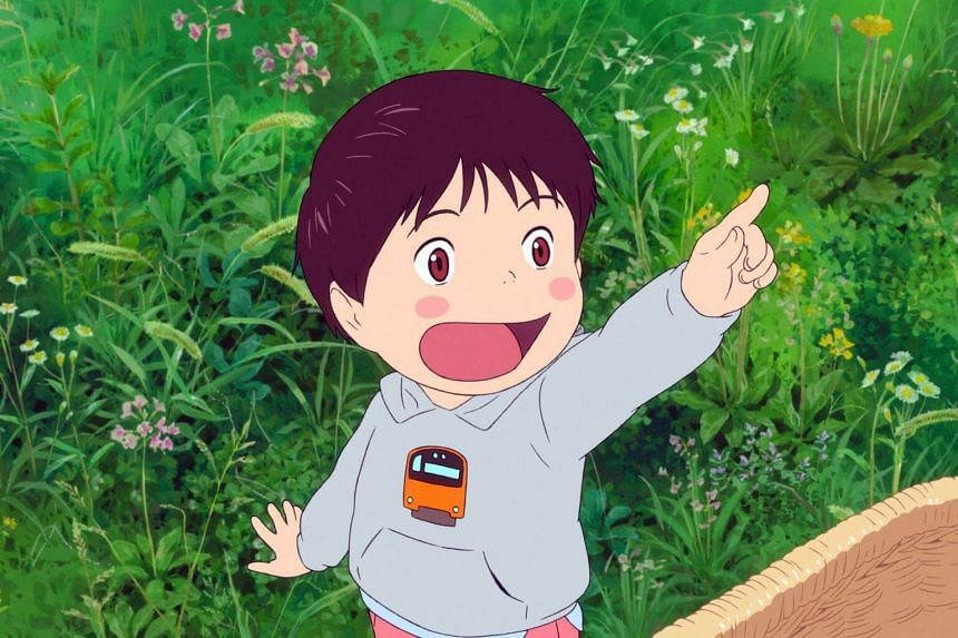 Four-year-old Kun (above) is jealous when his baby sister Mirai arrives and monopolises their parents' attention in Mamoru Hosoda's new movie.