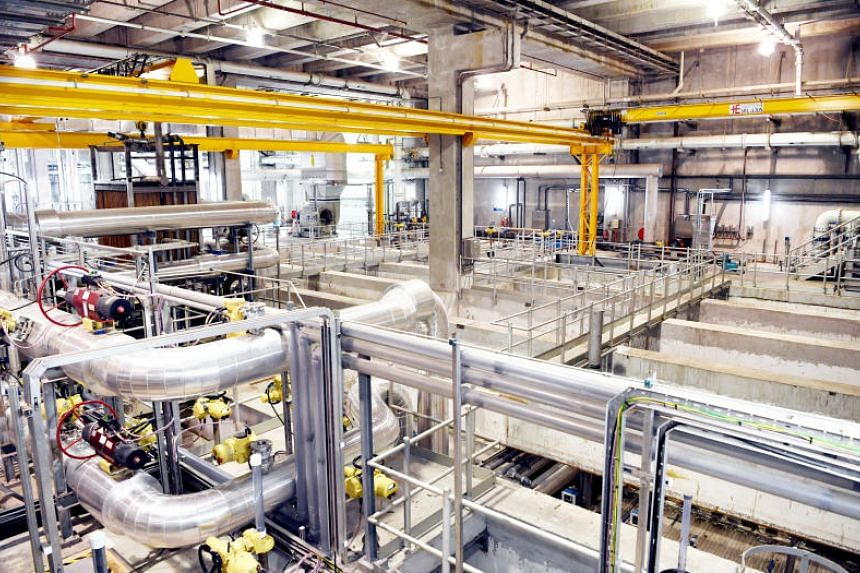 The Membrane Bioreactor Retrofit Liquids Treatment Module at the Changi Water Reclamation Plant.
