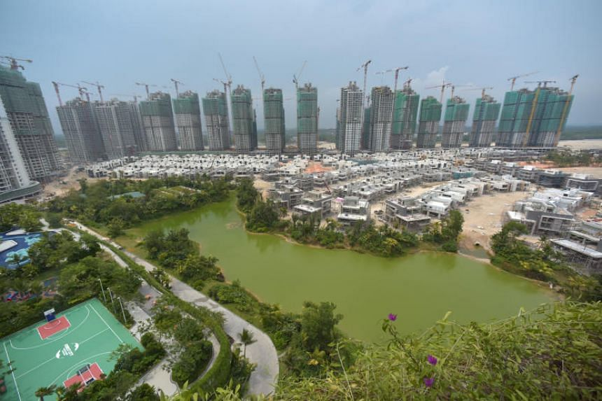 Malaysian Prime Minister Mahathir Mohamad has said that foreigners will not be allowed to buy homes at the Forest City project (above) near Singapore, or granted visas to live there.