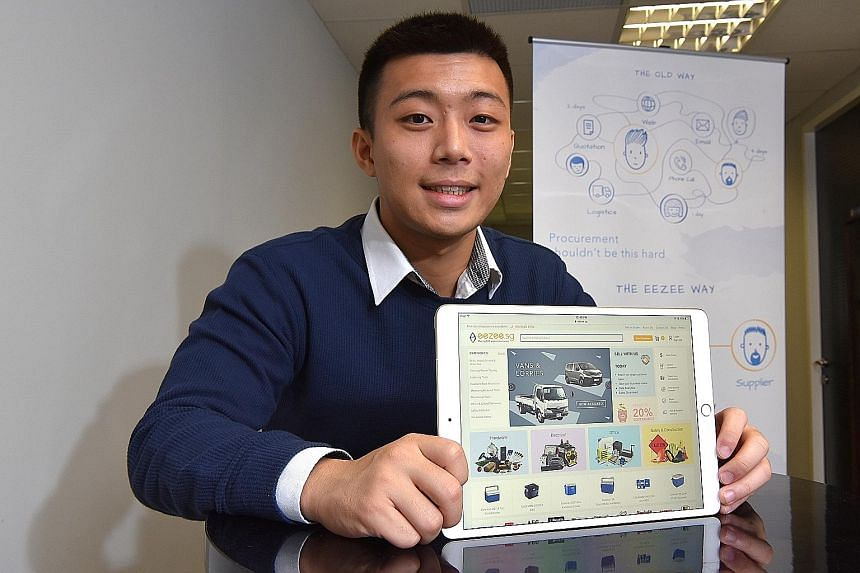 Mr Jasper Yap and three partners own Eezee.sg, an online marketplace where businesses trade items such as electrical and hardware supplies. The start-up is profitable and may expand overseas to Malaysia, Indonesia and Australia. Mr Jasper Yap was arr