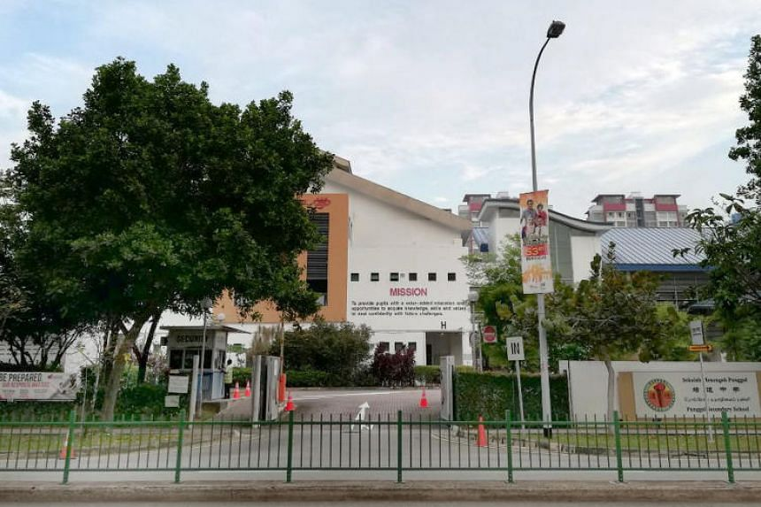 Punggol Secondary School principal Benedict Keh said staff and students have been reminded to be vigilant and watchful of their surroundings.