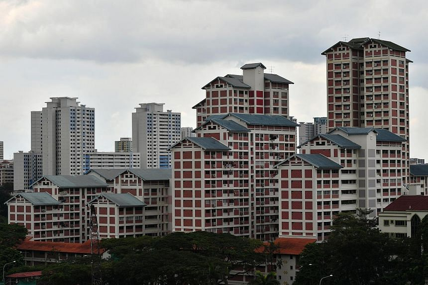HDB flats opposite 600 Sin Ming Avenue, on May 15, 2018.