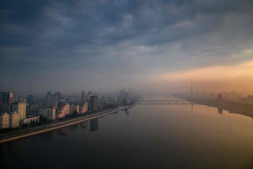 The Pyongyang city skyline and the Taedong river. The US State Department said it remains concerned about the threat of arrest and long-term detention of US nationals in North Korea.