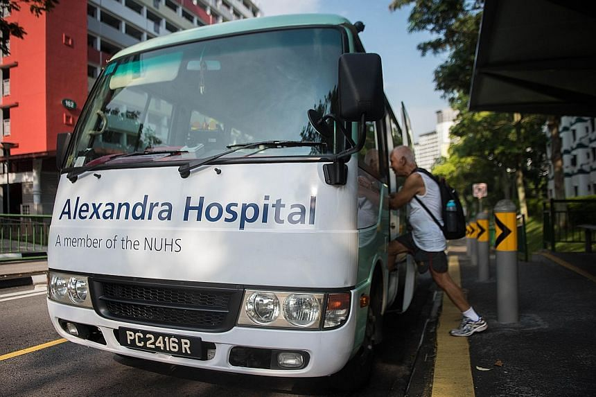 Alexandra Hospital rolls out free shuttle for patients in
