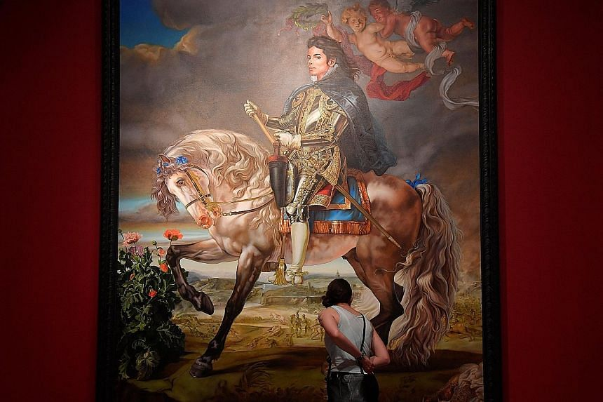 The number of visitors to the National Portrait Gallery in London in the fiscal year 2017 to 2018 had been falsely reported as having dropped to about 1.1 million from about 1.9 million. Equestrian Portrait Of King Philip II (Michael Jackson) (left)