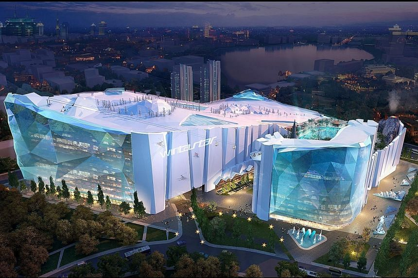 Wintastar Shanghai, set to be the world's largest indoor ski resort when completed, is slated to open in 2022, the year Beijing hosts the Winter Olympics. The $1.2 billion project comes amid a boom in winter sports in China, and aims to tap the risin