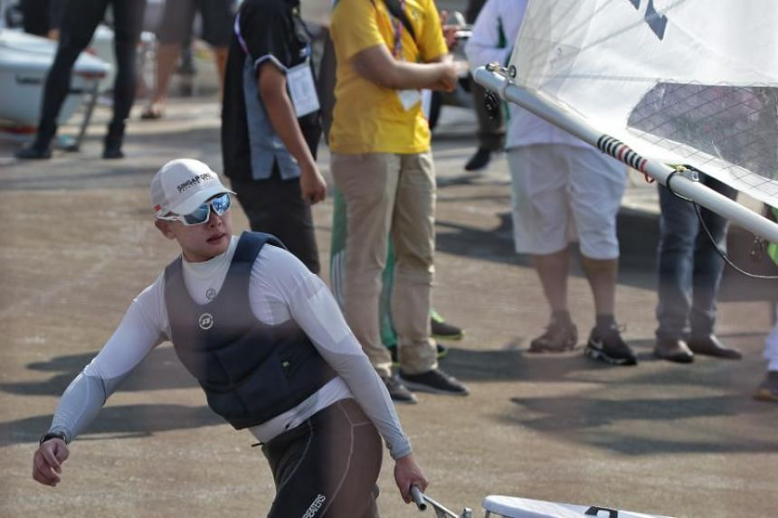 Ryan Lo finished third after 12 races at Indonesia's National Sailing Centre in Jakarta.