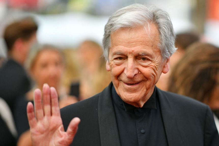 Gavras arriving for the screening of the TV series Twin Peaks at the Cannes Film Festival in 2017.