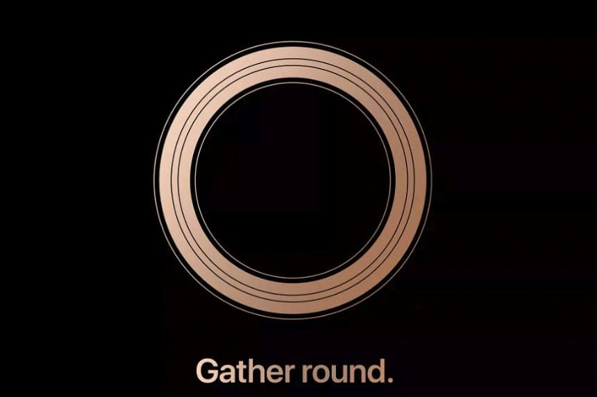 Apple's event invitation made heavy use of the colour gold, fuelling speculation on social media that the company plans to launch a gold-coloured successor to the iPhone X.