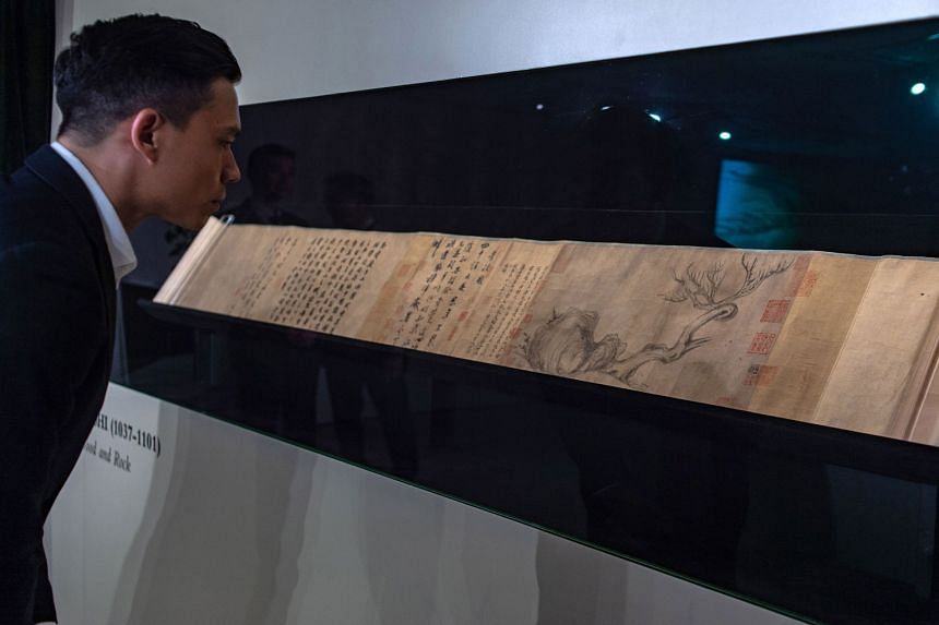 Wood And Rock, an extremely rare, 1,000-year-old ink painting by Song dynasty artist Su Shi, is being put up for auction by Christie's in Hong Kong in November. Its value is estimated to be more than $70 million.