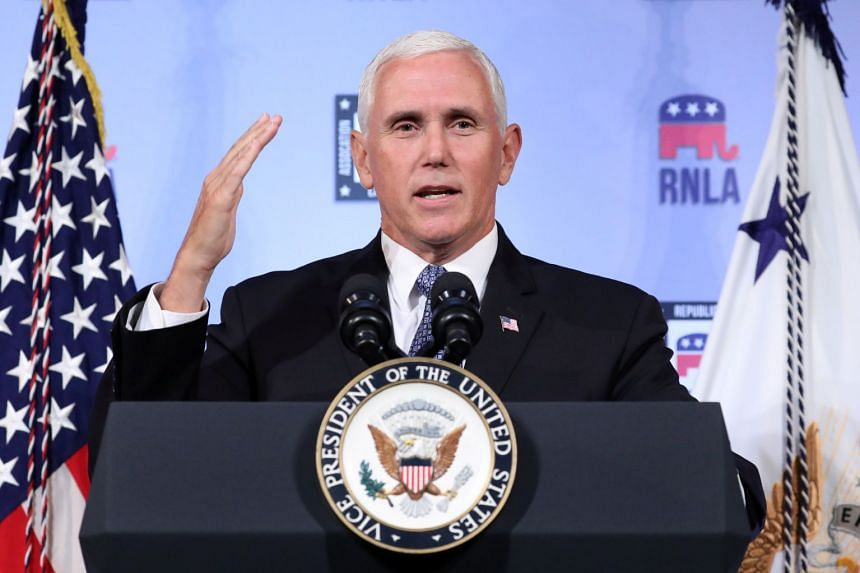 US Vice-President Mike Pence (above) will attend summits in Singapore and Papua New Guinea in place of Donald Trump.