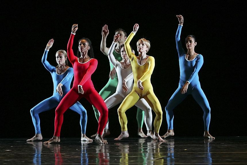 American choreographer Paul Taylor (above) brought technical prowess and physicality to the dance art form, often coupled with chirpy, colourful movements, scores and costumes, as seen in a performance of Public Domain (left) by his dance company in