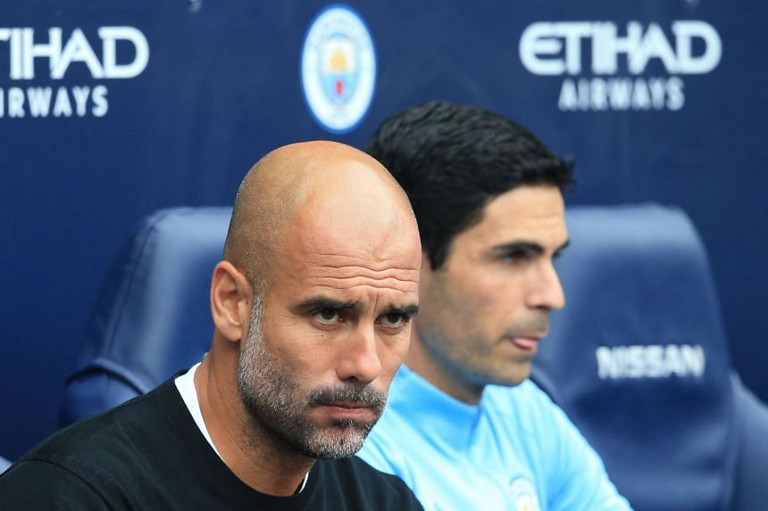Guardiola (left) has urged his players to show their ability to bounce back from disappointing results.